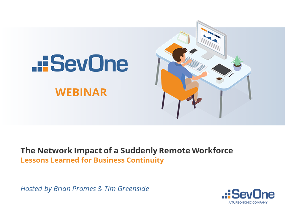 The Network Impact of a Suddenly Remote Workforce